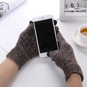 TOP 7Colors Thicker Touch Knitting Warm Gloves Touch Screen Magic Acrylic Glove Mobile Phone Universal Touch Screen Glove