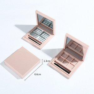 Leer Pallete für Lippenstift Leeren Makeup-Palette Fall für Lidschatten Rouge Lippenstift Kosmetik DIY Pallete, 6 Grids Rosa pfze #