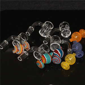 25mm XL Flat Top Quartz Banger Nail with glass bubble carb caps 10mm 14mm Glass Water Pipes Quartz Terp Slurper Banger Nail
