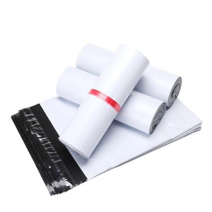 20x26+4cm White Express Shipping Mailer Envelope Self Sealable Package Bag Self Adhesive Post Courier Mailer Plastic Mail Packing Pack Pouch