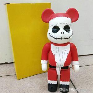 Hot 400% 28 cm Bearbrick Babbo Natale e Pruzkin Prince Jack Bear figure giocattolo per collezionisti Be @ rbrick Art Lavoro modello decorazione giocattoli regalo