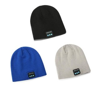 Knitted Winter Warm Bluetooth Headset Cap Wireless Binaural Stereo Call Music Headphones Hat for Night Running Fishing