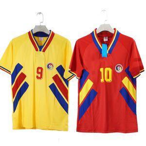 Trasporto libero 1994 Romania Hagi Raducioiu Vintage Jersey di calcio