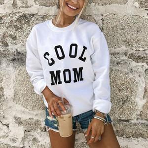 Coole Mom Frauen Hoodies Herbst und Winter-Monogramm Hoodie Herbst-Winter-starken warmen Mantel-Sweatshirt Netter Punk Tops Druck