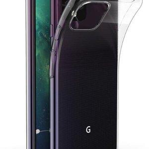5 Şeffaf Google Phone 4A Kılıfları 5G Piksel 3 3A 4 XL Temizle Yumuşak Jel TPU Kılıfı Silikon Kapak