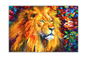 Lion By Leonid Afremov Home Decor Handpainted &HD Print Oil Paintings On Canvas Wall Art Pictures For Living Room 201007