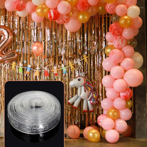5 متر / وحدة بالونات الاكسسوارات بالون سلسلة الزفاف عيد البالون خلفية ديكور ديكور ختم الغراء نقطة الكرة حامل 1
