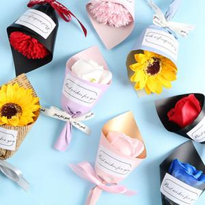 Flor artificial ramo de ramo de ramo flores de jabón de san valentín regalo de regalo de año nuevo regalo mini ramo artificial flor decoración DHA3169