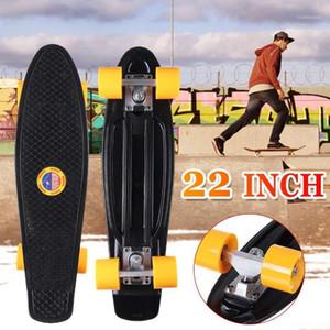 22 inç Dört tekerlekli Sokak Uzun Paten Kurulu PU Ped Alüminyum Braketi Mini Cruiser Skateboard Longboard Yetişkin Çocuklar için1