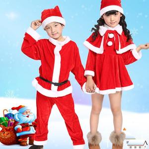 Natal Papai Noel Terno Top Quality Christmas traje terno bebê menino / menina 3 pcs crianças ano novo crianças conjunto de roupas