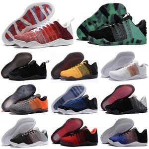 2020 Высокое качество Mamba 11 Elite Men Баскетбол обувь Брюс Ли FTB White Horse Red Horse ахиллесова пята 11s черный Спортивные кроссовки обувь