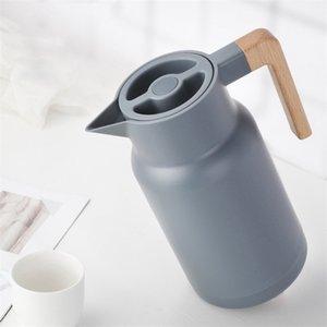 Стеклянные вакуумные колбы изоляции термос 1л большие бытовые горячие воды горшок чайник офис кофе тепловые теплые бутылки двойная стена 201110