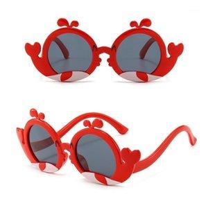 Fashion Crianças Desenhos Animados Dolphin Sunglasses UV - Óculos bonitos resistentes1
