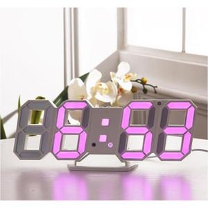 Modern Design 3d Led Wall Clock Modern Digital Alarm Clocks Display Home Living Room Office Table Desk Night Wa jllVLZ sinabag