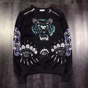 KENZO sweater Sıcak kadın nakış kaplan başı kazak paris marka uzun kollu kazak süveter kazakshirler hoodies ceket ceket pembe