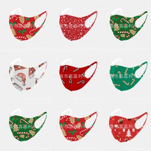Designer Masques Visage de Noël MaskPrint S Coton Noël Lavable respirante de protection anti-poussière PM2,5 Masques de Noël # 718123143666 Activé Carbo