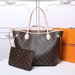2 pçs / set High Qulity Classic Designers Womens Handbags Flower Ladies Composite TOTE PU embreagem de couro bolsas de ombro bolsa feminina com carteira