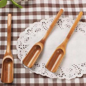 Бамбуковый чай совок ложка чайного инструмента кофе ложка удобные инструменты кофе чай листья ложка оптом