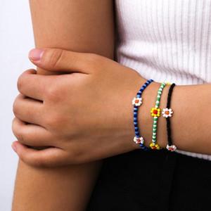 Braccialetti multistrato bohémien per le donne Boho Daisy Flower Seed Seed Bracelets gioielli gioielli regalo1