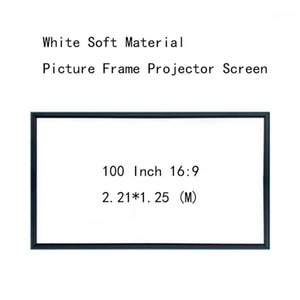 Thinyou Wall Mounted Projection Screen 100inch 16:9 Picture frame HD projector screen White Soft Material Ultra narrow 1CM frame1