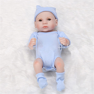 Reborn Baby Muñecas Cuerpo Completo Silicona Reborn Baby Dolls Hecho A Mano Reborn 11 Pulgadas Real Mirada Recién Nacido Muñecas Muñecas Muchacha Muñeca Modelo de silicona