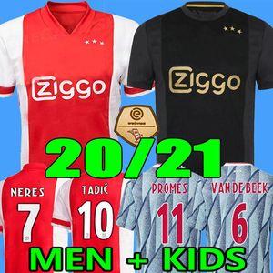 20 21 Ajax FC Haller Soccer Jersey 2020 2021 Kudus Neres Antony Blind PROMES TADIC TRAORE UOMO BAMBINI KIT KIT CAMICIA DI CALCIO CALCIO Huntelaar Uniformi