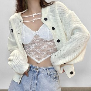 Sexy See-through Mesh Lace Patchwork Cropped Tops For Women Low Cut Crop Tank Top Bodycon Y2K E-Girl Aesthetic Streetwear Camis