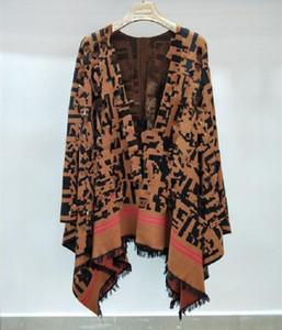 Alta Qualidade solta de malha lã cobertor quente vender capa feminina e poncho letra borlas casaco poncho capa outwear casaco xaile frete grátis 1