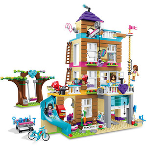 Compatible with lepining Friends Building Blocks Heartlake City Girl Mia's Villa Cottage Friendship Tree House 725pcs 1008