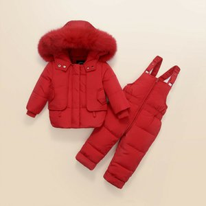 Winter Baby Set baby Ski suit Sets Boy's Girls Outdoor sport Jackets+trousers