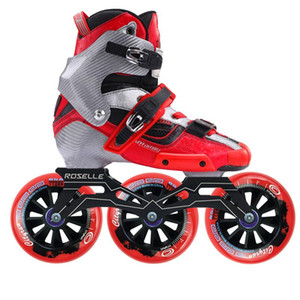 Original CRAZY Carbon Fiber Inline Speed Roller Skates with 3x110 mm 85A Wheels Professional Kids Adult Skating Shoes Patines