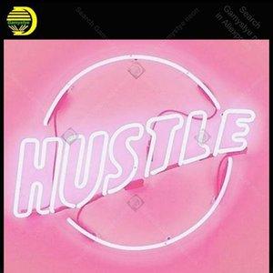 Néon signes Hustle vie santé signe néon ampoules Lampes Artesanat affichage club restaurant néon Letrero Néons Lumine enseigne