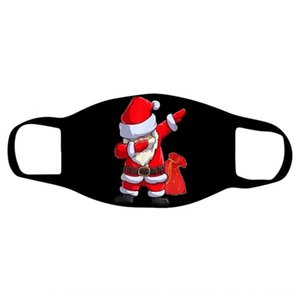 FA мода SAEA 2020 маски моющиеся взрослые мультфильм рождественские напечатанные Санта Борода PM2.5 пылезащитная маска