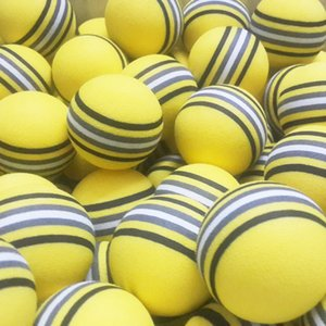50pcs bag EVA Foam Golf Balls Hot new Yellow Red Blue Rainbow Sponge Indoor golf Practice ball Training Aid Free Shipping