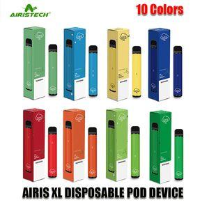 Airis original dispositivo desechable XL Pod Kit de batería 850mAh 5 ml Cartucho 1200 Puffs Vape Vacío pluma auténtica Vs Air Plus BAR