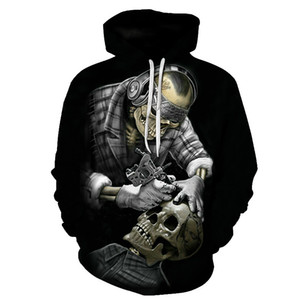 Biaolun Funny Skull Hoodies Sudaderas con capucha 3D Hombres Mujeres Sudaderas Unisex Streetsuits Fashion Casual Streetwear Hooded Brand Pullover 201019