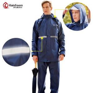 Raincoats Rainfreem Raincoat Suit 침투성 여성 / 남성 후드 오토바이 Poncho Rainwear S-6XL 하이킹 낚시 비 기어 1
