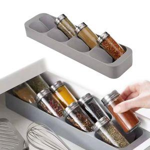 Mutfak Spice Depolama Sos Baharat Şişe Tutucu Spice için Kabine Çekmece Organizer Rack 8 Delik Raf