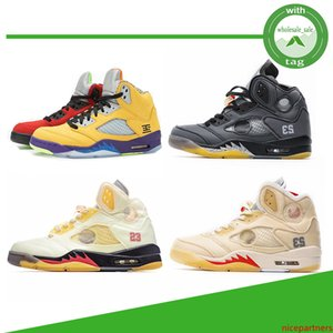New Sail black muslin jumpman 5 5s shoes top 3 alternate What the red suede hyper royal green white cement mens sneakers