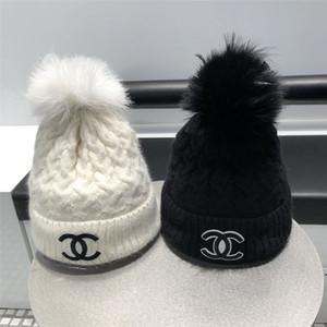 Новая Зимняя Женская шляпа Повседневная Сплошная Меха Помпама Шляпа Женская Крышка Теплый Хлопок Женщины Шапочки Зимняя Шляпа