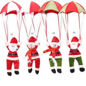 Parachute Santa Claus Christmas Home Ceiling Decorations Parachute Santa Claus Snowman New Year Hanging Pendant Christmas Fun Trinkets SN