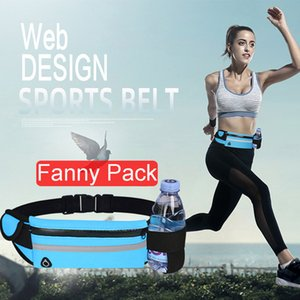 Travel multifunctional Sports pocket mini fanny pack for men women Portable convenient USB waist pack waterproof phone belt bag
