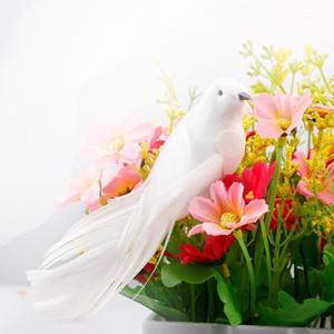12 oiseaux artificiels clip sur les oiseaux de plume d'oiseaux de noël de mariage décor artificiel ménage artisanat ornements1