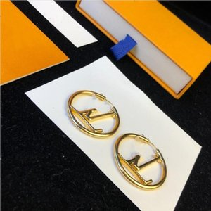 Top quality Hot Sale Fashion gold hoop earrings for lady Women Party earring New Wedding Lovers Big size engagement Jewelry for Best gifts