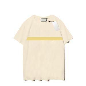 21SS T-shirts Hommes Mode Hommes Femmes Summer T-shirts T-shirts 3 Couleurs 24 Styles Lettre Motif Modèle d'impression Mens manches courtes Housses respirantes à manches courtes