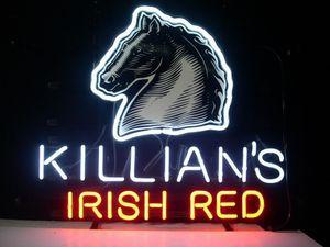 Killians 아일랜드어 레드 맥주 실제 유리 튜브 라이트 핸드 메이드 바 맥주 클럽에서 벽 게임 룸 서명 네온
