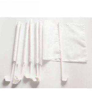 12x18inches White Blank Autofahne Sublimation Flagge 100D Polyester Auto-Qualitäts-Fenster mit 43cm Plastikpfosten freiem Verschiffen DHF2235 Druck