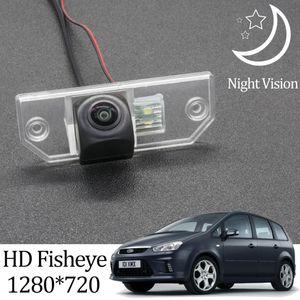 Owtosin HD 1280*720 Fisheye Rear View Camera For C-MAX 2002 2003 2004 2005 2006 2007 2008 2009 2010 Car Vehicle Camera