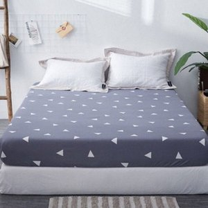 1pc 100%Polyester Fied Sheet Maress Cover Printing Bedding Linens Bed Sheets With Elastic Band xNxY#