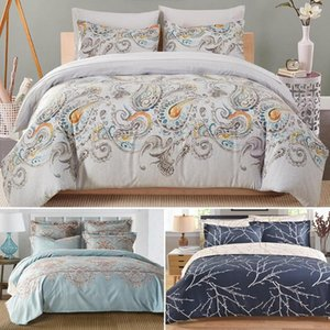 Duvet Cover With Pillow Case Quilt bed Cover Bedding Sets Single Double King Queen Size Adults Children cotton satin Quilted